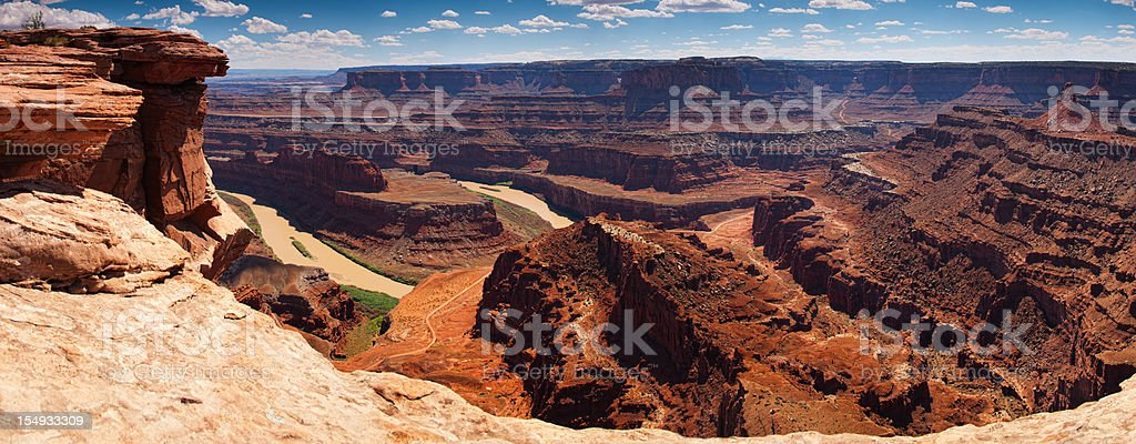 Dead Horse Point State Park panoramic, Utah, USA. stock photo