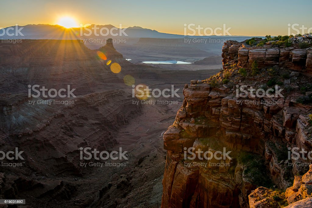 Dead Horse Point Sunrise stock photo