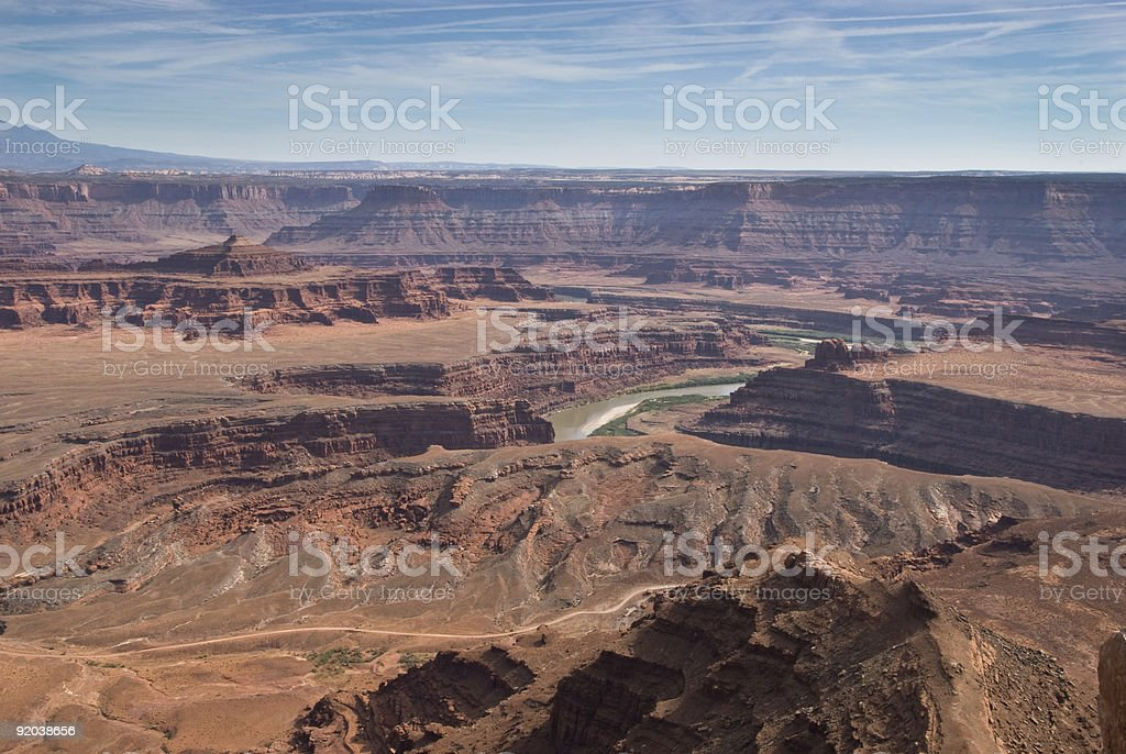 Dead Horse Point- View of the Colorado River Gorge stock photo