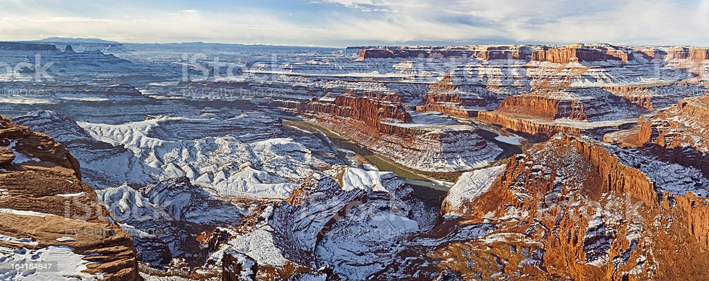 Dead Horse Point Winter Panorama stock photo