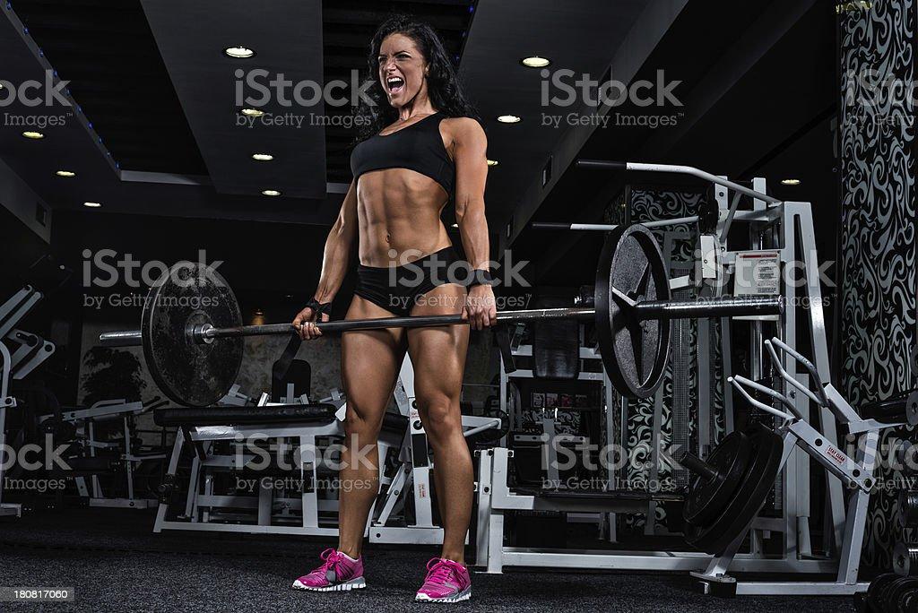 Dead lift royalty-free stock photo