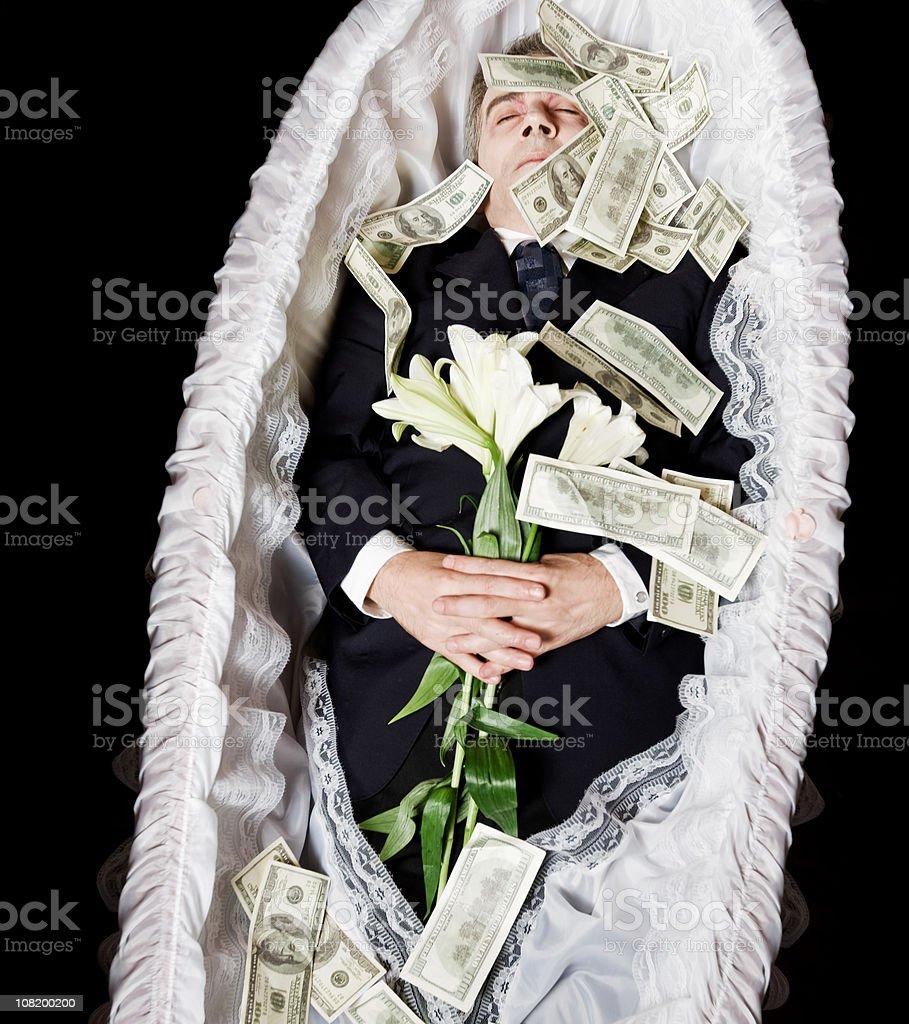 Dead man royalty-free stock photo