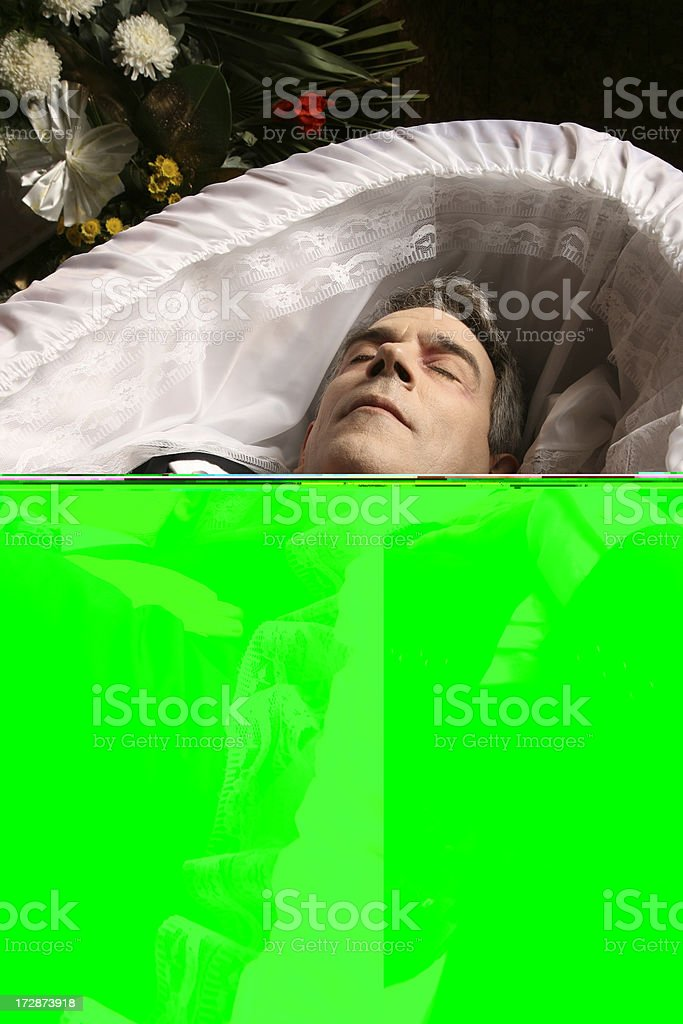 Dead man royalty-free stock photo