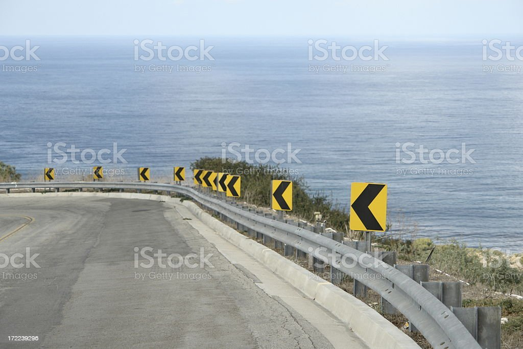 Dead Man's Curve royalty-free stock photo