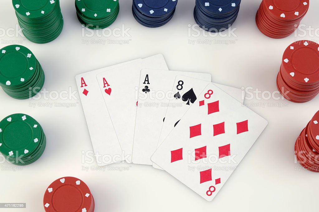 Dead Man's Hand, Eights and Aces stock photo