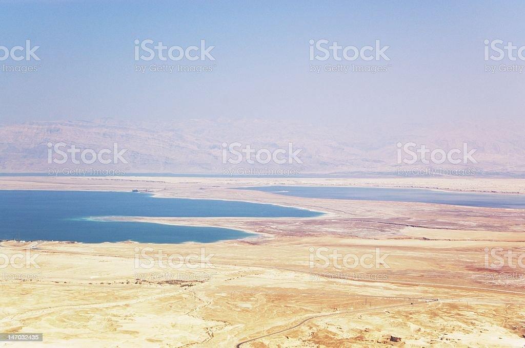 Dead sea and Judea desert stock photo