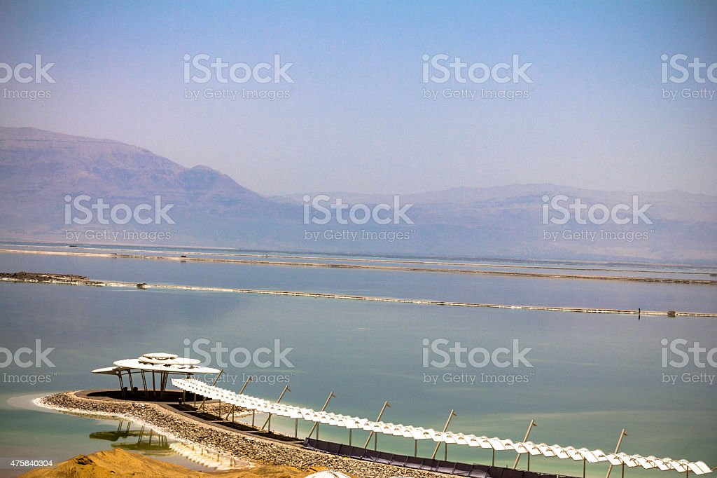 Dead sea - best place  for skin diseases therapy stock photo