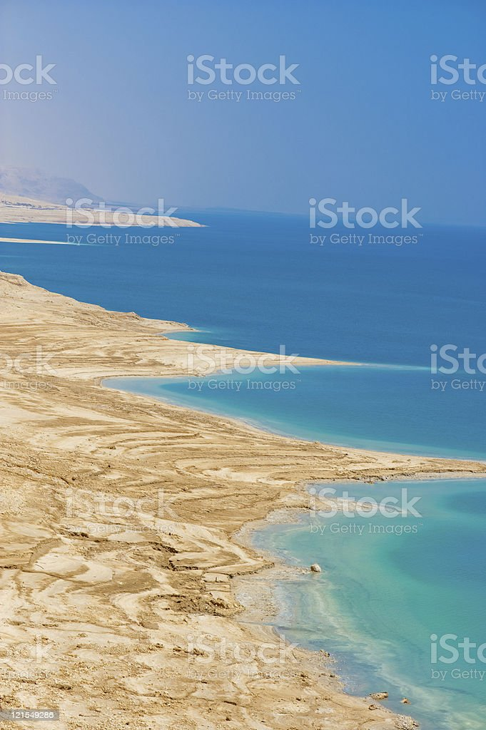 Dead sea coastline royalty-free stock photo