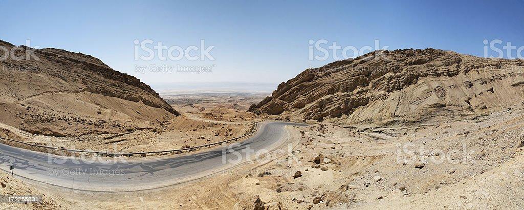 Dead sea Jordan drive royalty-free stock photo
