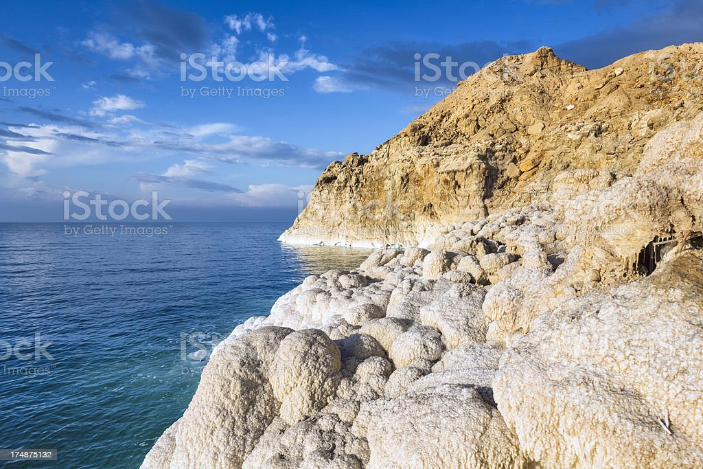 Dead Sea / Jordan - Salt Rocky Coastline royalty-free stock photo