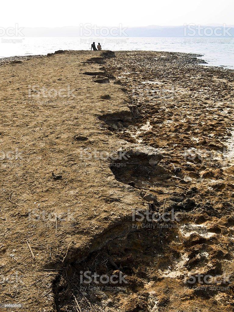 Dead sea love stock photo