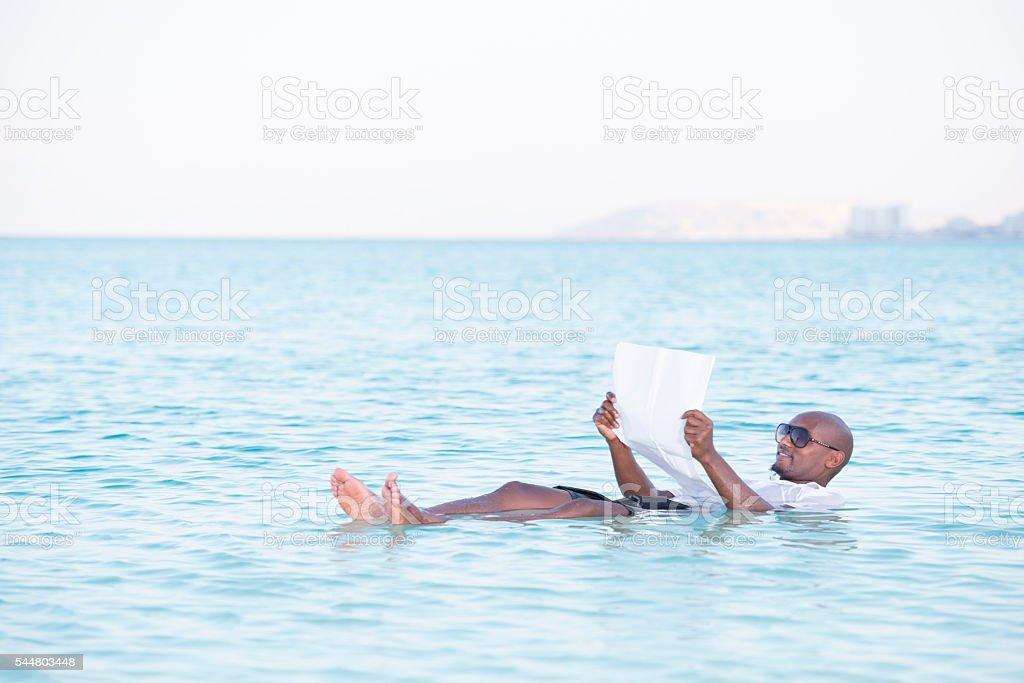 Dead Sea news. stock photo