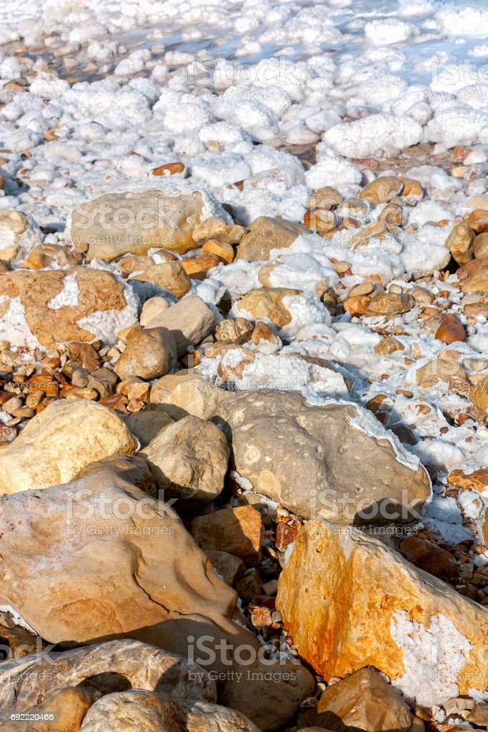 Dead Sea Rocks and Salt Formations stock photo