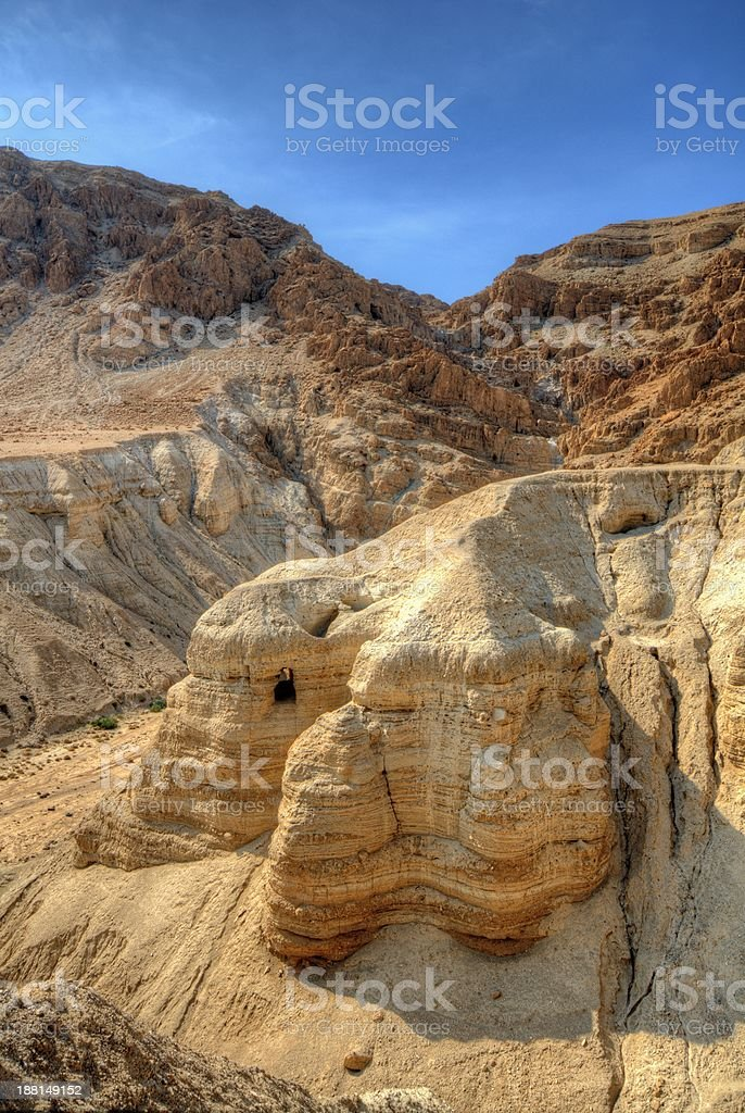 Dead Sea Scroll Caves stock photo