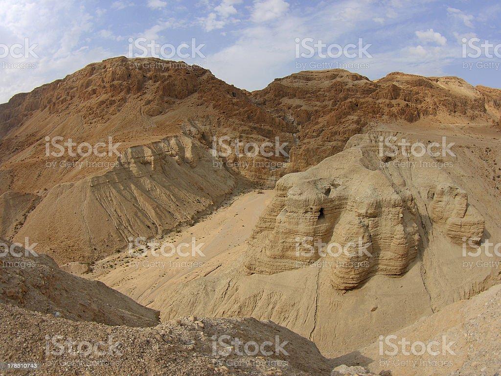 Dead Sea Scroll Caves, Qumran, Israel stock photo