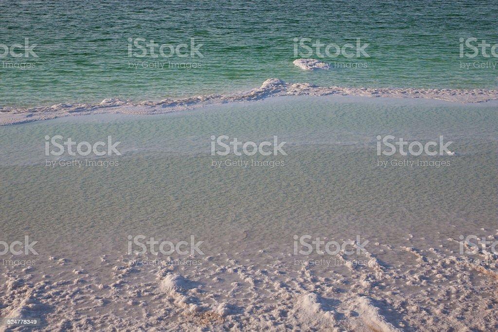 Dead Sea shore stock photo