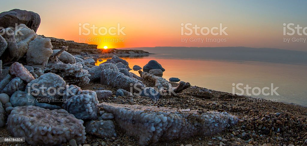 Dead Sea Sunset stock photo