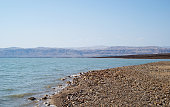 Dead Sea. View from Jordan to Israel
