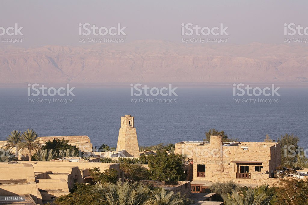 Dead sea view to Israel royalty-free stock photo