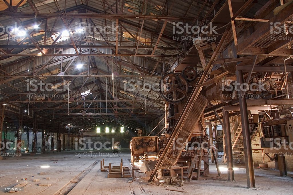 Dead Technology/ghost factory royalty-free stock photo