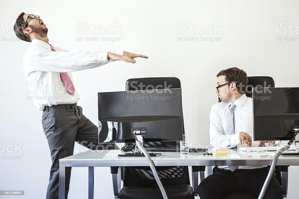 Dead Tired Sleepwalker in The Office royalty-free stock photo