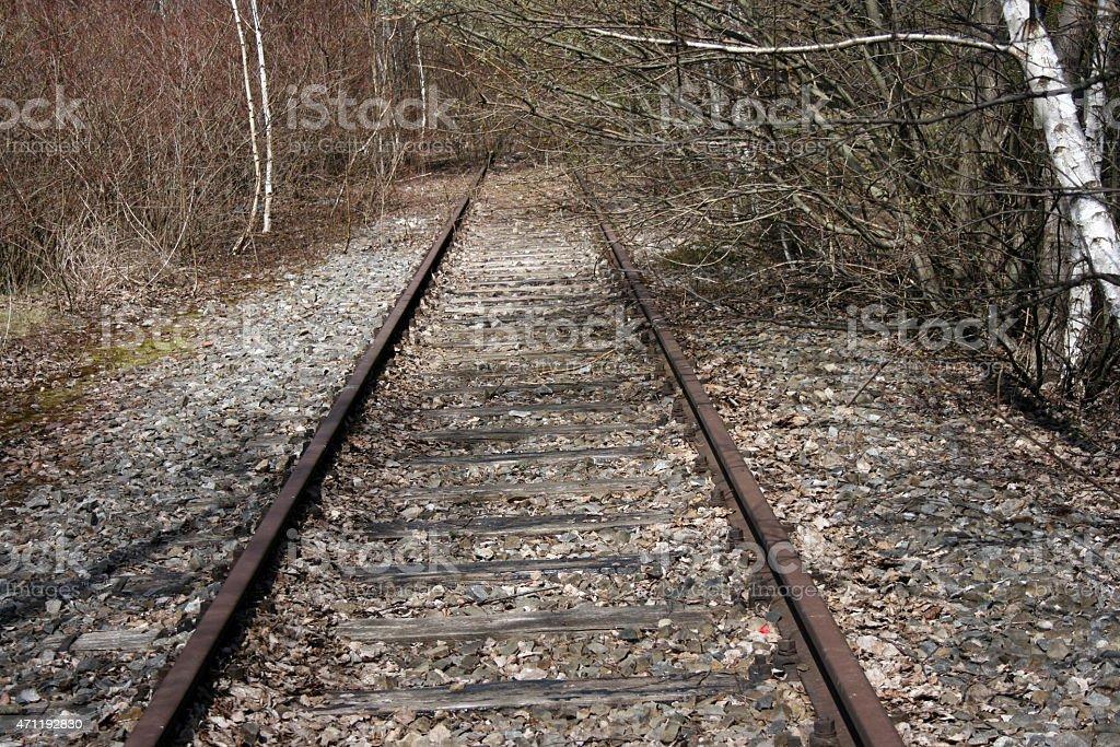 Dead Track stock photo
