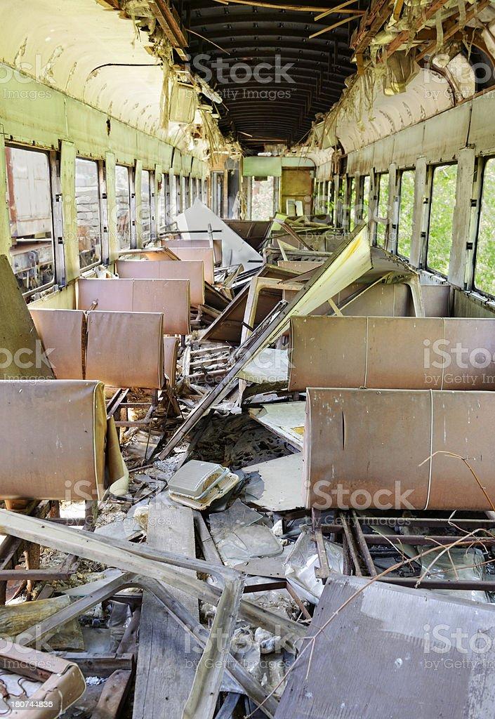 Dead Trains Of Chernobyl(Pripyat) stock photo