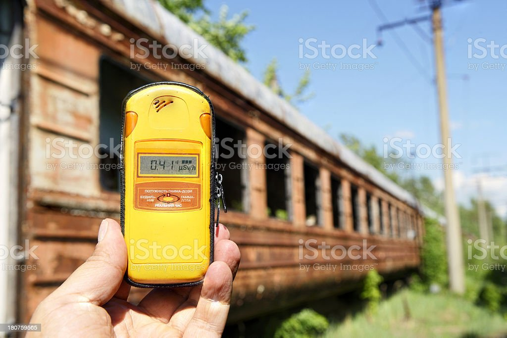 Dead Trains Of Chernobyl(Pripyat) royalty-free stock photo
