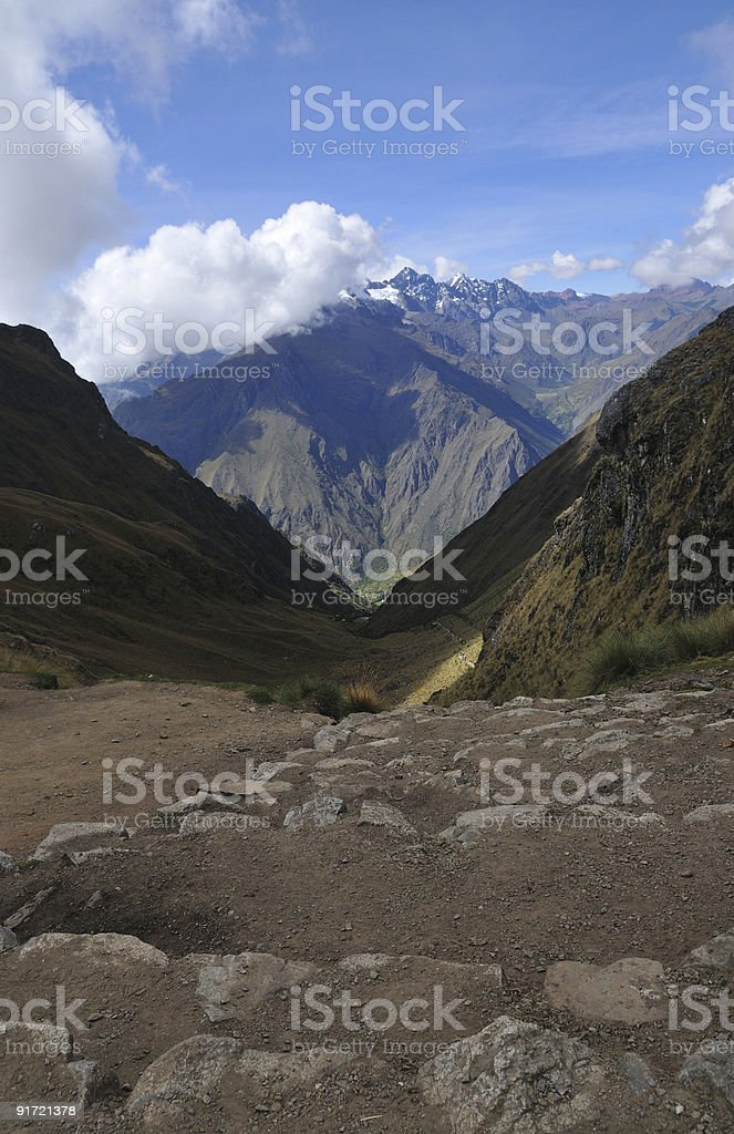 Dead Woman's Pass, Inca Trail, Peru stock photo