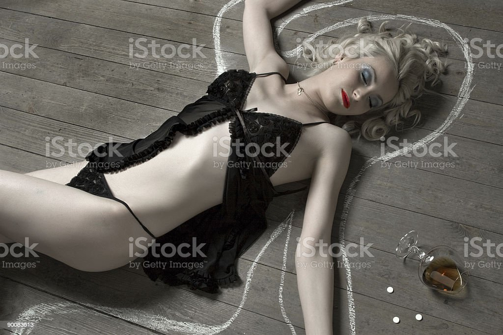 Dead young woman royalty-free stock photo