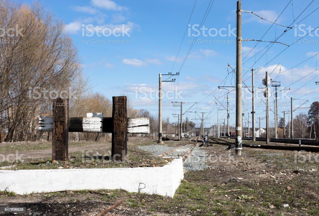 dead-end siding stock photo