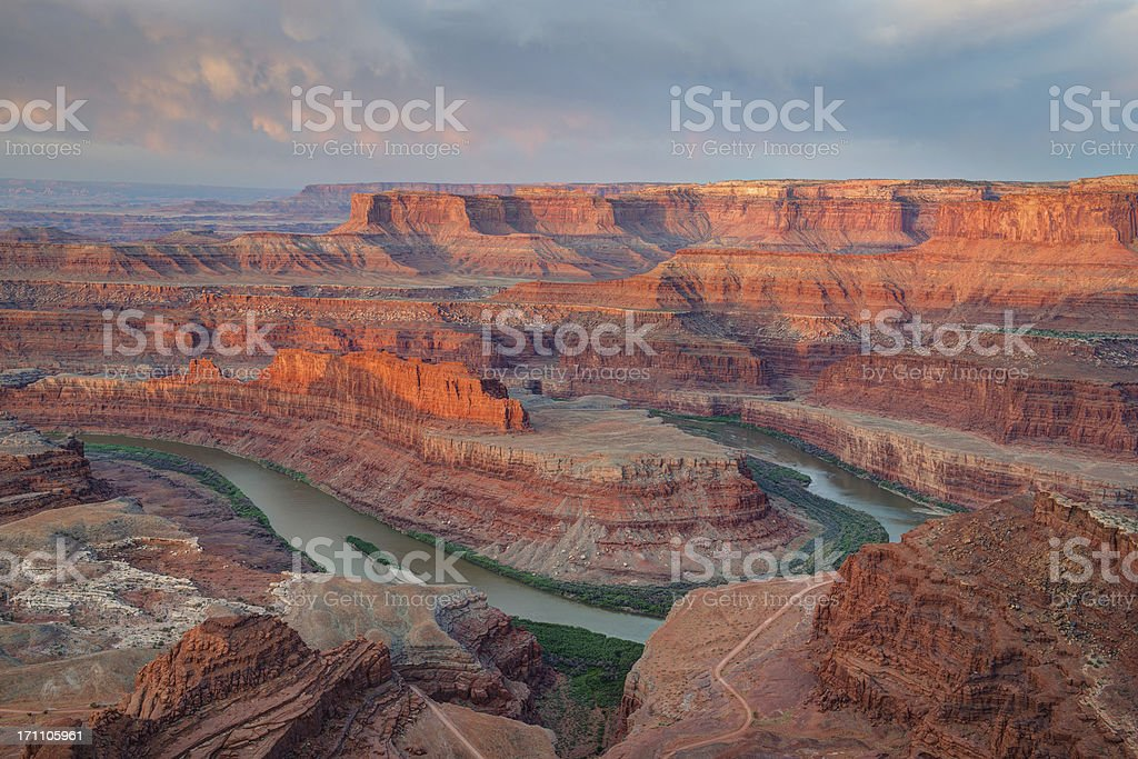 Deadhorse Point Canyons and Clouds stock photo