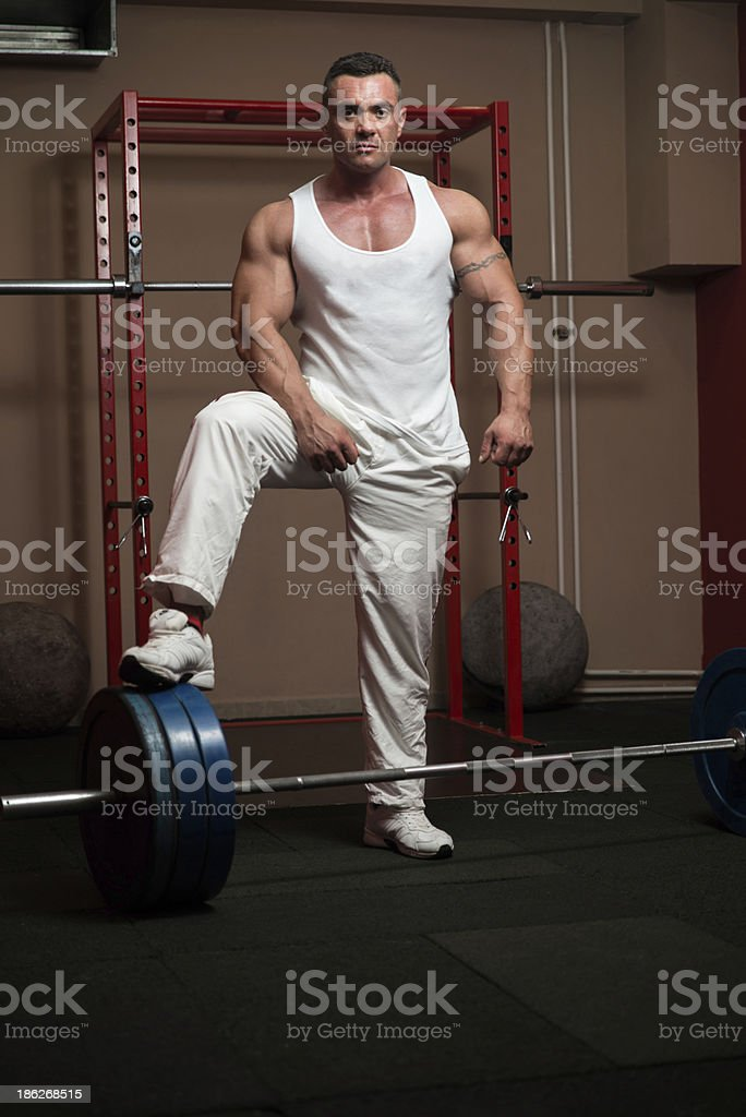 Deadlift Heavy Weights stock photo