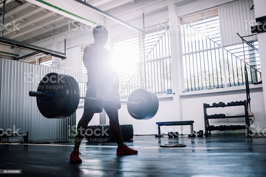 Deadlifts stock photo