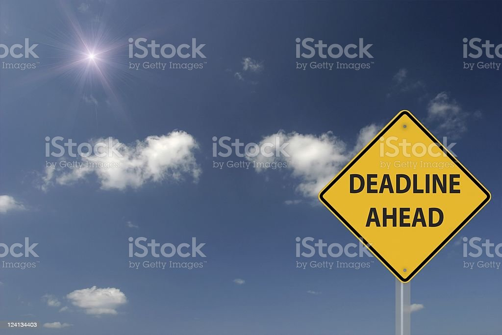 Deadline Ahead royalty-free stock photo