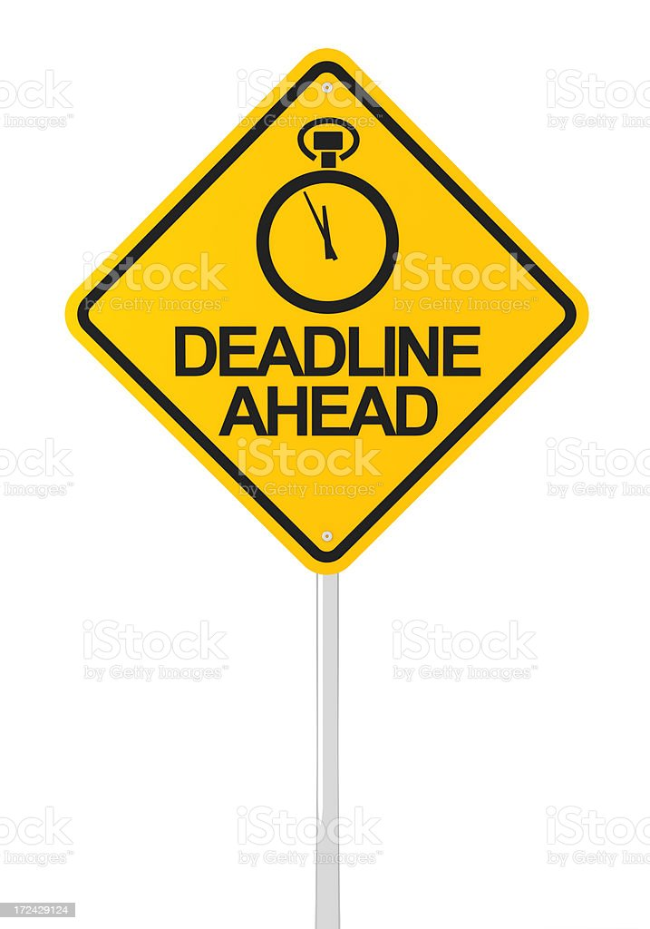 Deadline ahead royalty-free stock photo