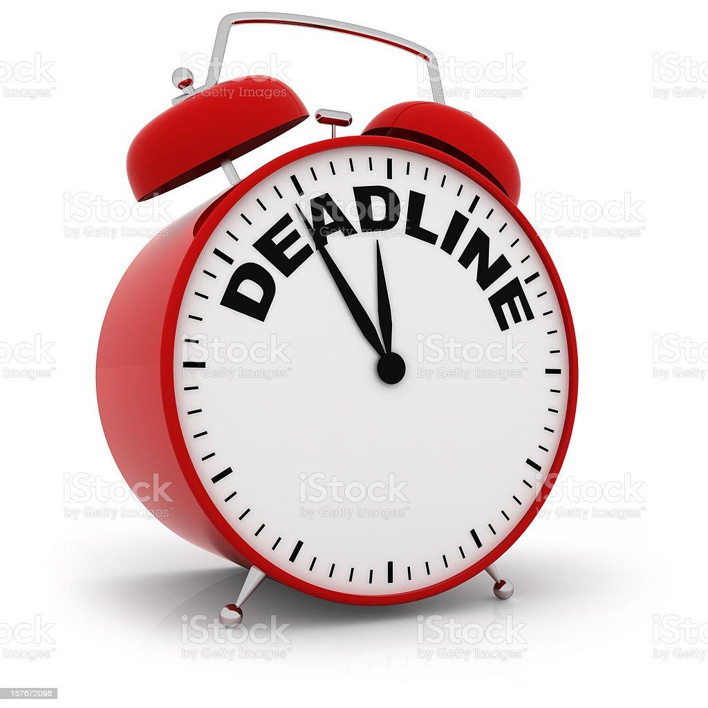 Deadline Alarm Clock royalty-free stock photo