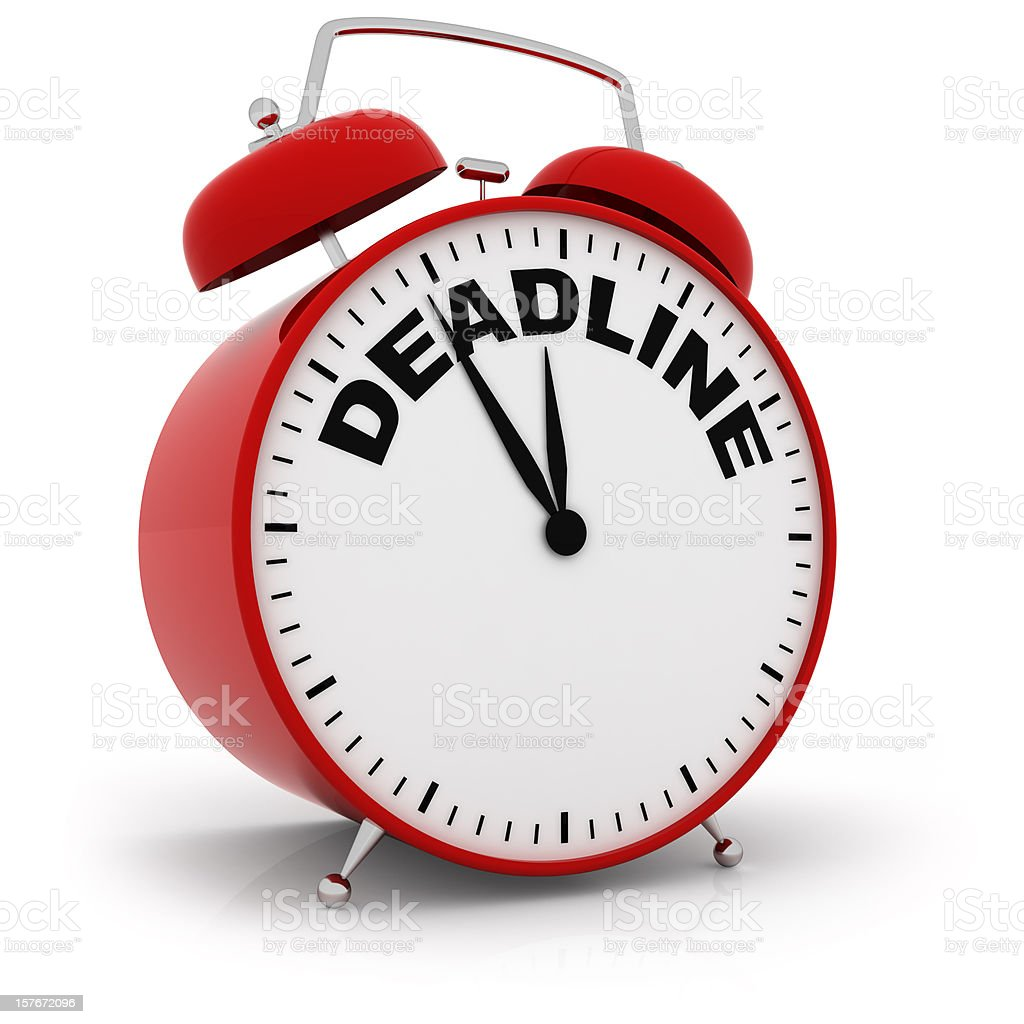 Deadline Alarm Clock stock photo