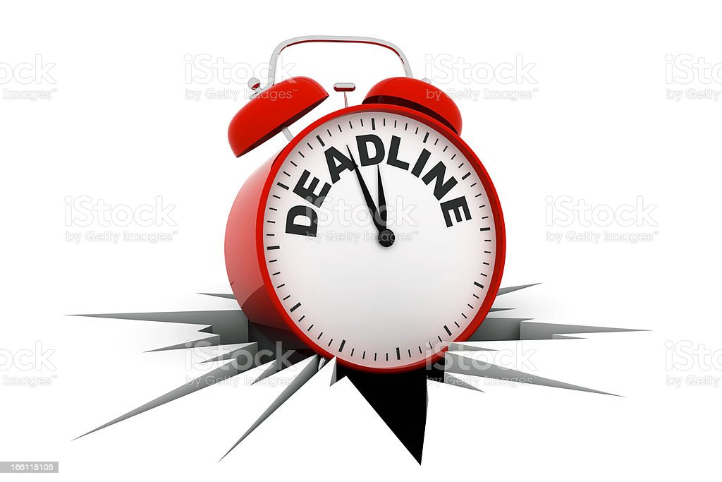 Deadline Alarm Clock royalty-free stock photo