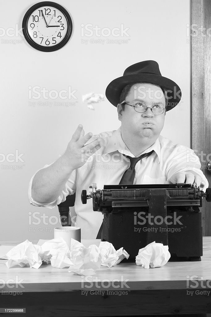 Deadline and writers block. royalty-free stock photo