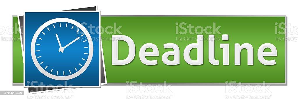 Deadline Blue Green Button Style stock photo
