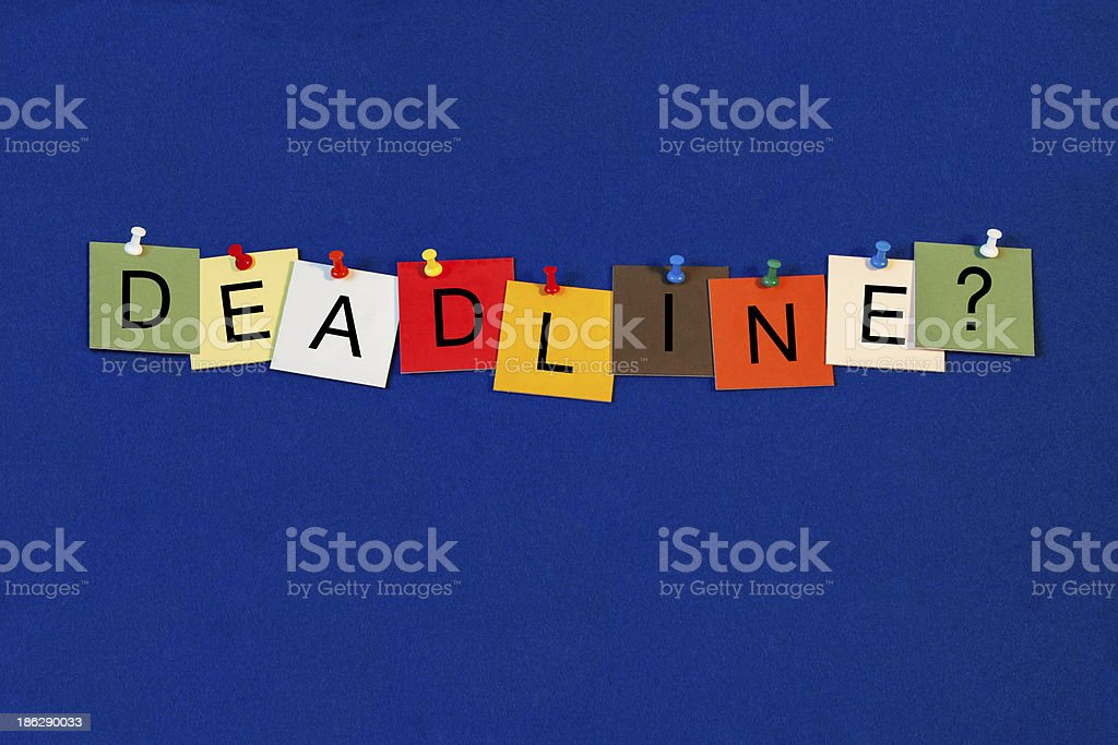 Deadline - Business Sign royalty-free stock photo