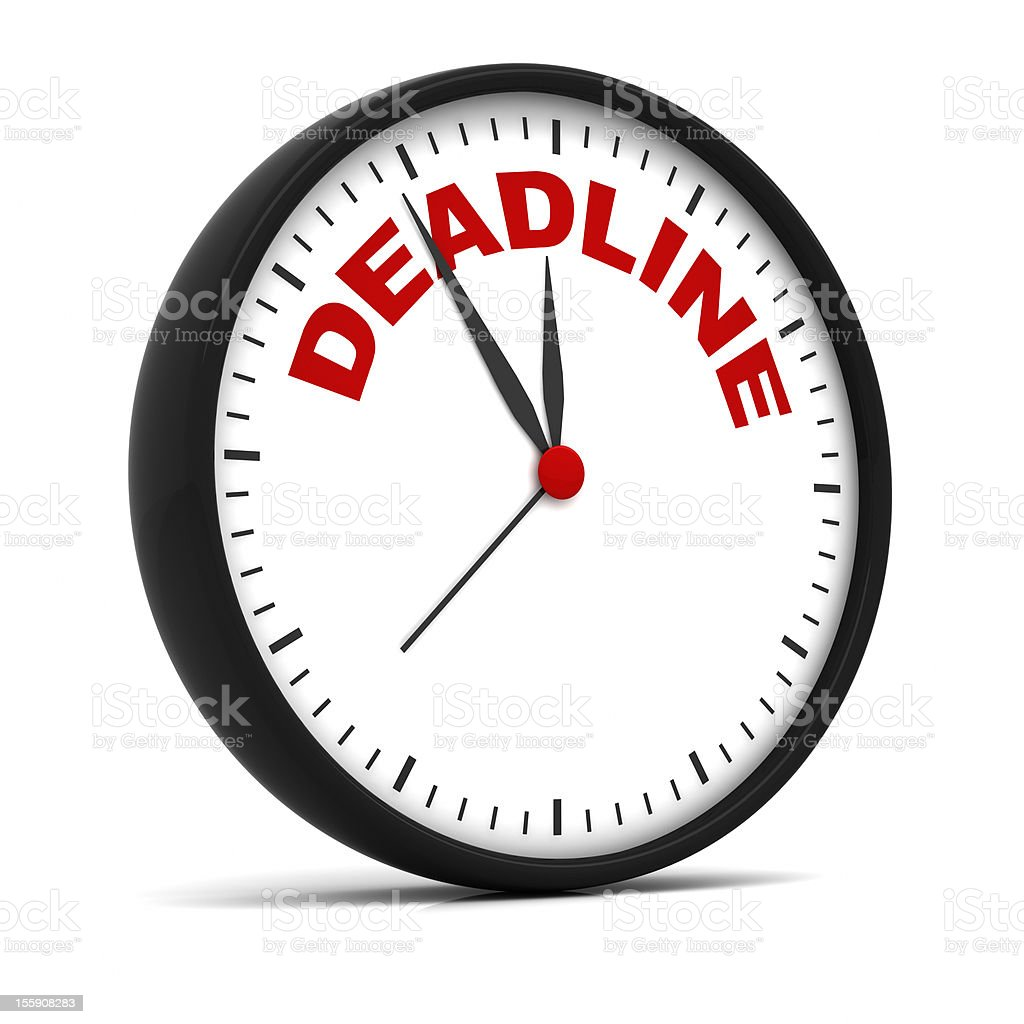 Deadline Clock royalty-free stock photo
