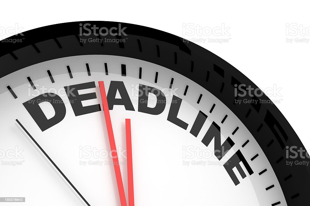 Deadline stock photo
