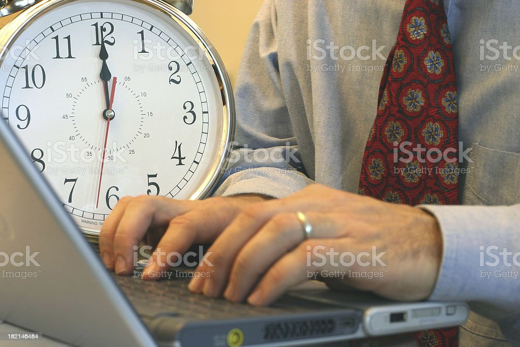 Deadline royalty-free stock photo