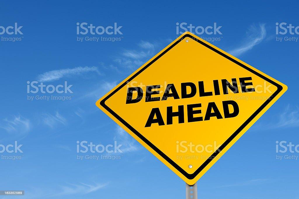 Deadline Street Sign royalty-free stock photo