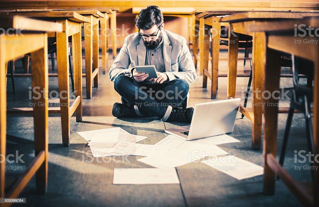 Deadline studying. stock photo