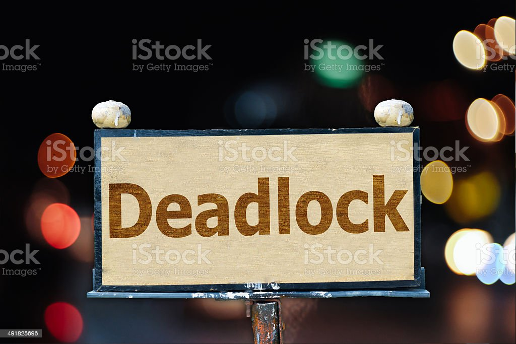 Deadlock old board stock photo