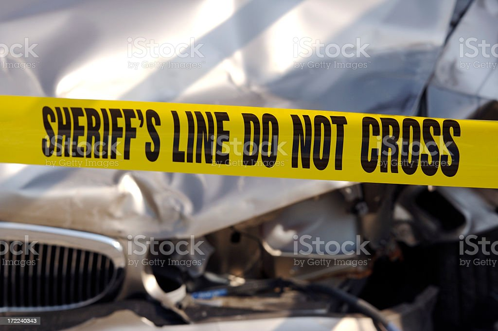 Deadly Accident stock photo