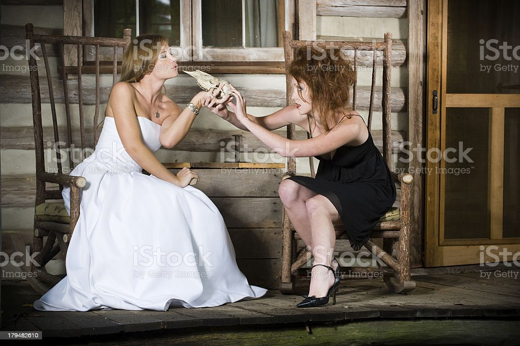 Deadly Bride: Kiss of Death royalty-free stock photo